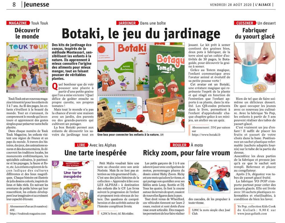 Article de L'Alsace Touk Touk