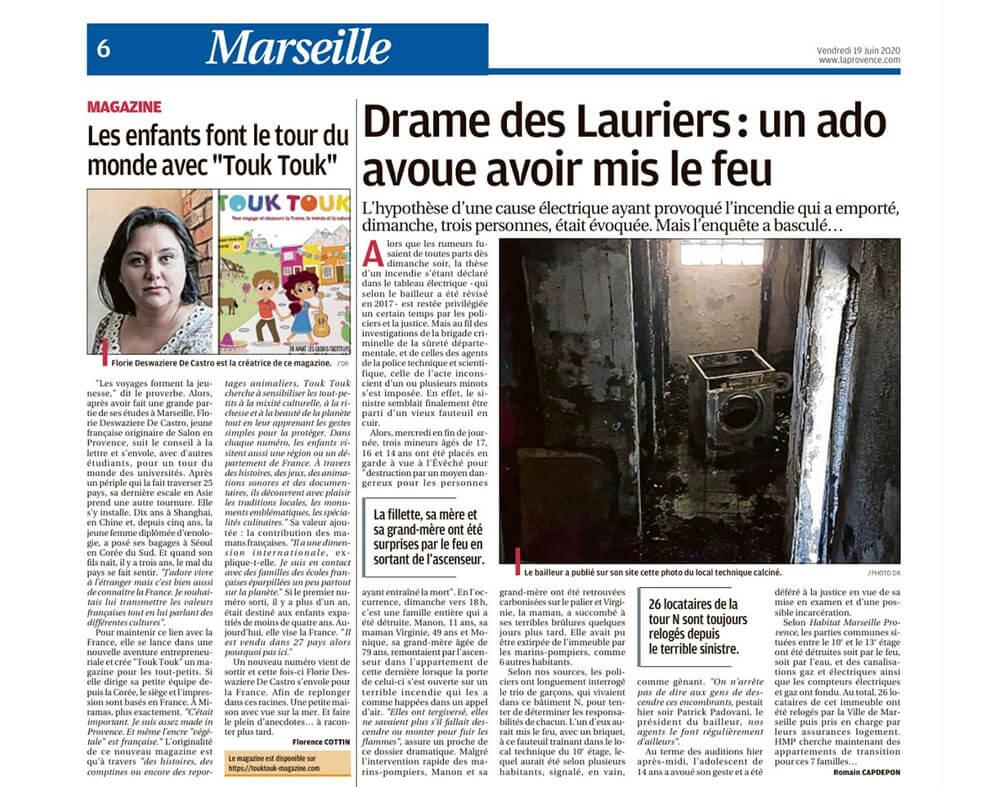 Article La Provence Touk Touk