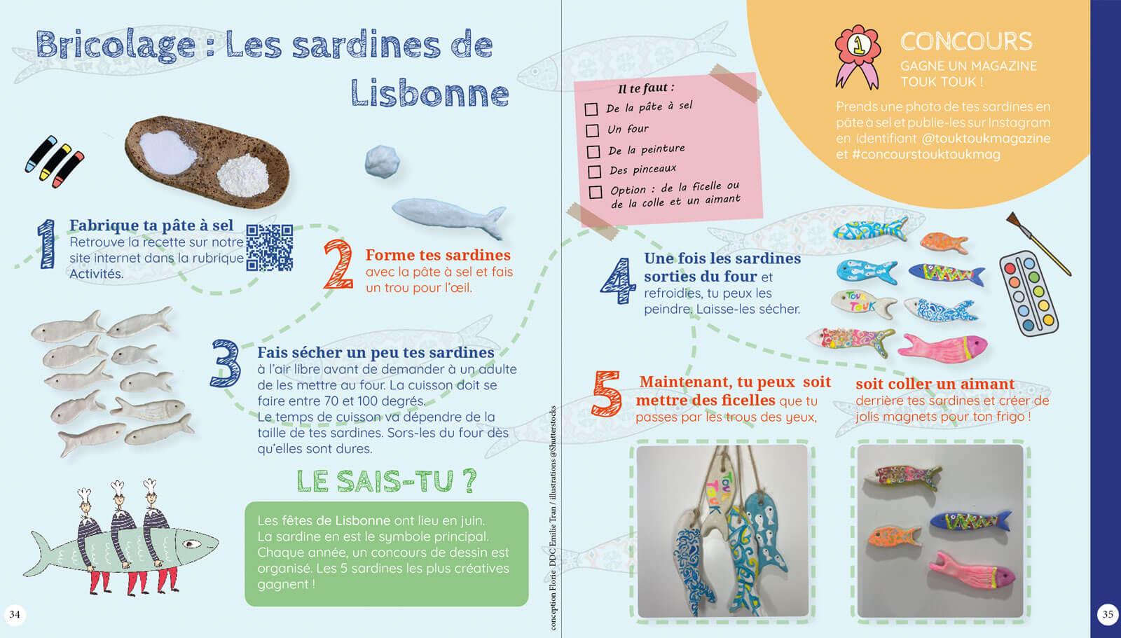 Bricolage Sardines de Lisbonne