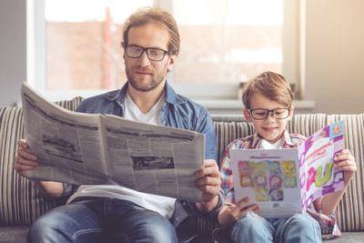 Lecture presse parent et enfant