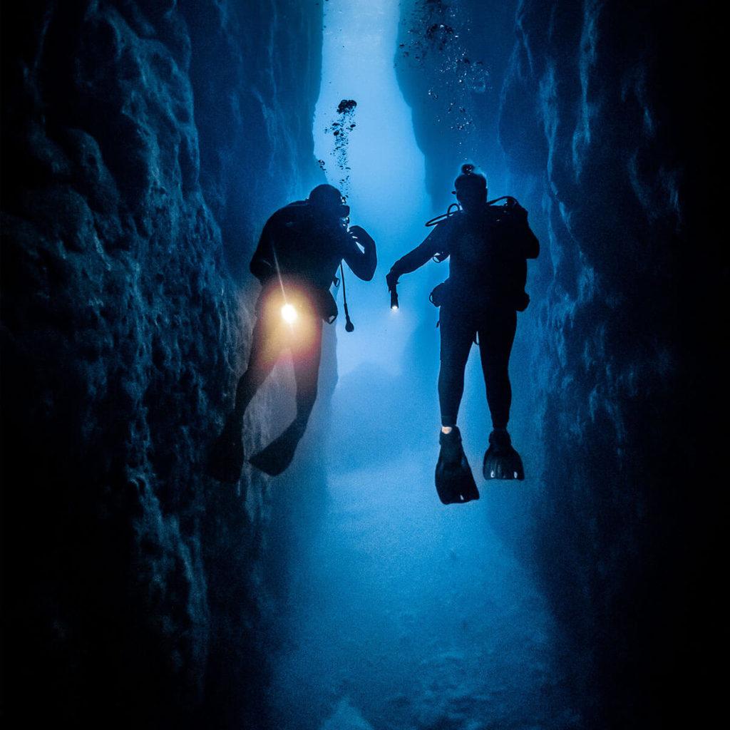Explorateurs plongée sous-marine