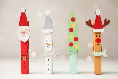 Pinces à linge décoration Noël