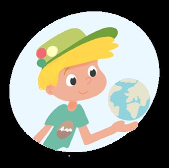 Tim avec le globe