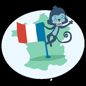 Touk et le drapeau français