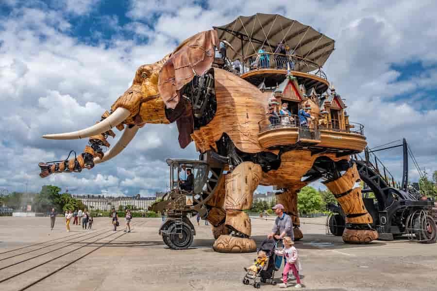 Galerie des Machines à Nantes visite avec enfants