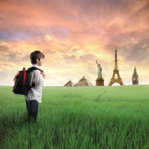 Enfant voyage virtuel
